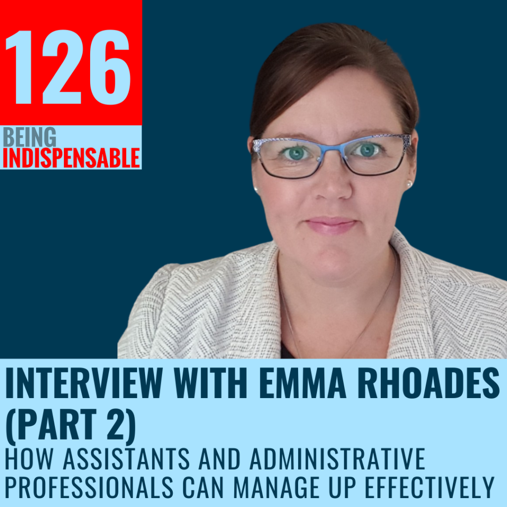 Emma Rhoades podcast interview with Liz Van Vliet of My EA Career